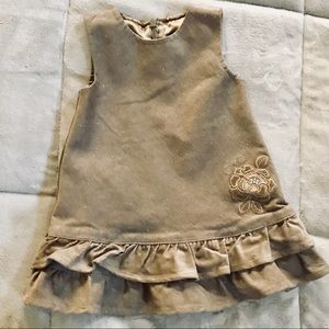 Baby girl sparkly corduroy peplum dress 12mo